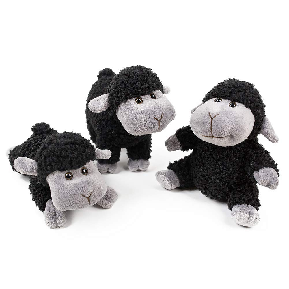 FRANKIEZHOU Stuffed Animal Sheep Lamb Plush Soft Toys Lovely 3Pcs(Sitting, Standing, Kneeling) Best Gift for All Baby Little Girl/Boy