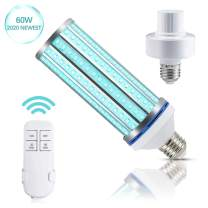 60W LED Corn Light Bulb with Remote Control,E26/E27 Base for Home Office Garage