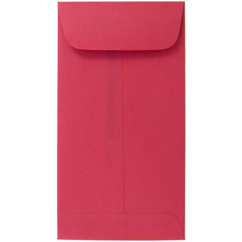 JAM PAPER #7 Coin Business Colored Envelopes - 3 1/2 x 6 1/2 - Red Recycled - 25/Pack