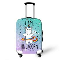 "OSVINO Cartoon Cute Unicorn Luggage Cover Durable Elastic Travel Suitcase Protector, Unicorn A, S(for 19""-21"" Luggage)"