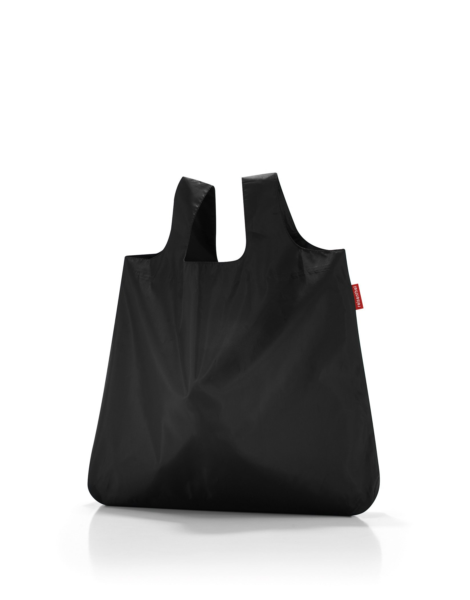 reisenthel Mini Maxi Shopper, Packable Reusable Shopping Tote with Carrying Pouch and Clip, Black