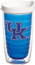 Tervis 1222380 Kentucky Wildcats Logo Tumbler with Emblem and White Lid 16oz, Blue