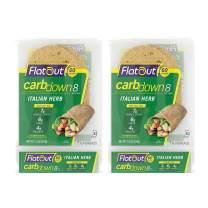 Flatout CarbDown, Italian Herb (2 Packs of 7 Flatbreads)