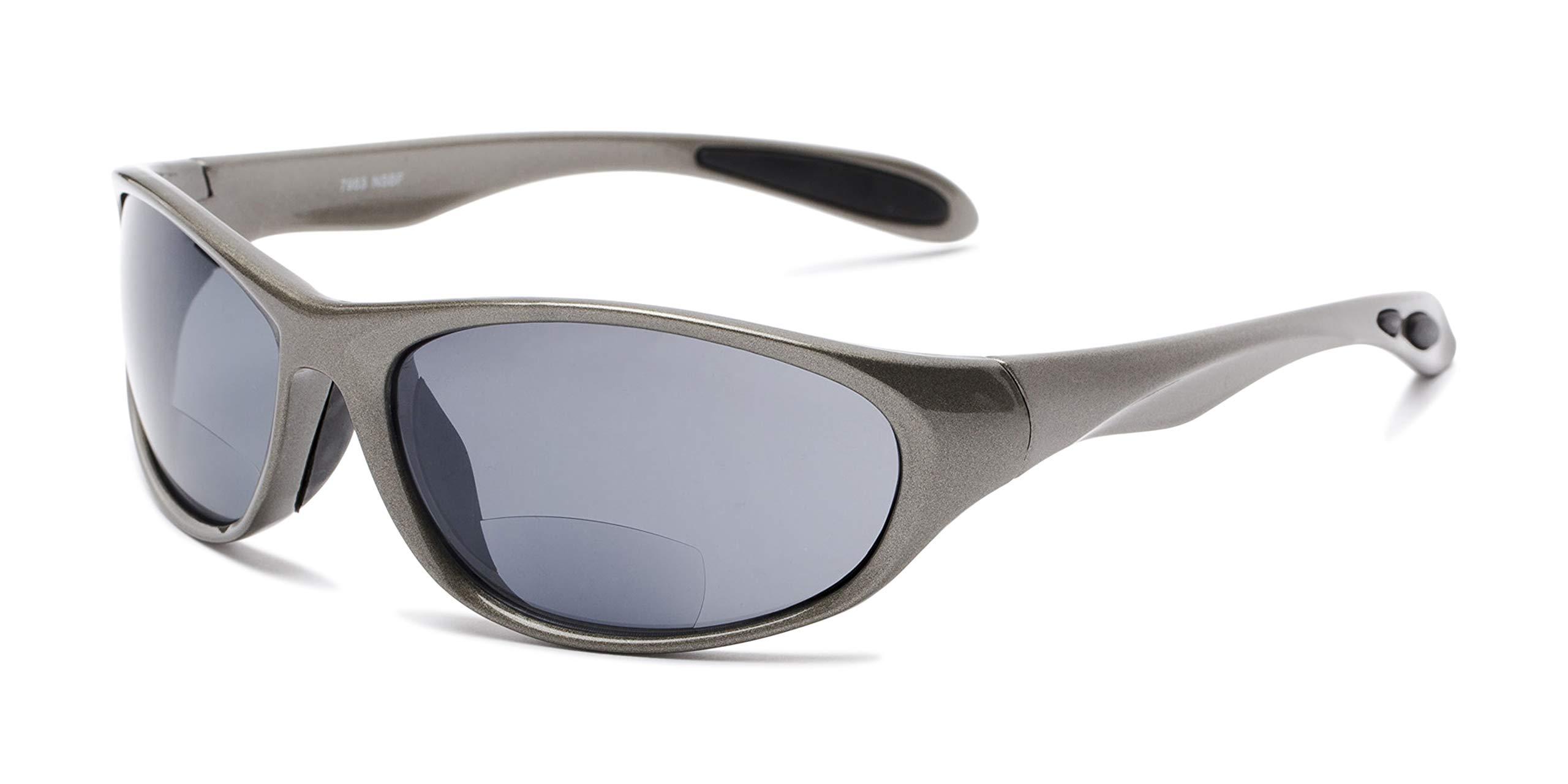 Readers.com Reading Sunglasses: The Zeek Bifocal Reading Sunglasses Plastic Sport & Wrap-Around Style for Men and Women