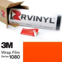 3M 1080 VCW17074 Satin NEON Fluorescent Orange 5ft x 19ft W/Application Card Vinyl Vehicle Car Wrap Film Sheet Roll