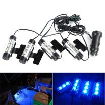 TIDO 12V 12 LED Car Auto Interior Atmosphere Lights Decoration Lamp - Blue
