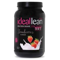 IdealLean - Nutritional Protein Powder for Women   20g Whey Protein Isolate   Supports Weight Loss   Healthy Low Carb Shakes with Folic Acid & Vitamin D   30 Servings (Strawberries N' Cream)
