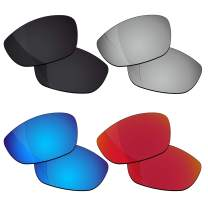 RockShell Polarized Lenses Replacement for Oakley Juliet Sunglasses - Jet Black + Lava Red + Ice Blue + GT Silver