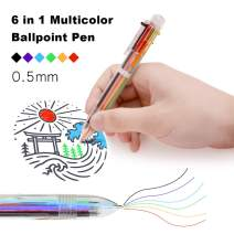 LITPRIN 23 Pack Multicolor Pen In One,0.5mm 6-in-1 Multicolor Ballpoint pen,Click Pen,6-Color Retractable Ballpoint Pens Office School Supplies,Students'Cool Pens Smooth Writing Tools Gift