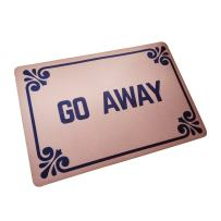 """Funny Doormats Go Away Durable Machine-Washable Indoor/Outdoor Door Mat 23.6""""(L) x 15.7""""(W) Inch"""