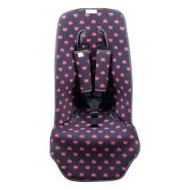 JANABEBE Cover Pushchair Luxury Foam Compatible with Inglesina, Cibex, Bugaboo (Fluor Heart)
