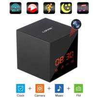 LIZVIE Hidden Spy Camera Clock WiFi HD 1080P Nanny Cam in Bluetooth Speaker with Stronger Night Vision, Motion Detection Smart Security Monitoring Home Office Shop