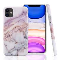 GOLINK Case for iPhone 11,Marble Series Slim-Fit Ultra-Thin Anti-Scratch Shock Proof Dust Proof Anti-Finger Print TPU Gel Case for iPhone XI 6.1 inch(2019 Release)-Purple Marble