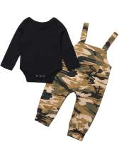 Toddler Baby Boy Clothes Long Sleeve T-Shirt Top+Camouflage Suspender Overall Pants 2Pcs Fall Outfit Set