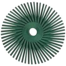 Dedeco Sunburst - 3 Inch TA Radial Bristle Discs - 3/8 Inch Arbor - Industrial Thermoplastic Rotary Cleaning and Polishing Tool, Extra-Coarse 50 Grit (10 Pack)