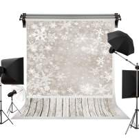 Kate 5x7ft/1.5m(W) x2.2m(H) Winter Backdrops Christmas Frozen Snow Background Wood Floor Children Photography Studio Prop