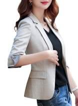 SUSIELADY Womens Casual Jacket Casual Work Blazer Office Jacket Slim Fit Blazer for Business Lady