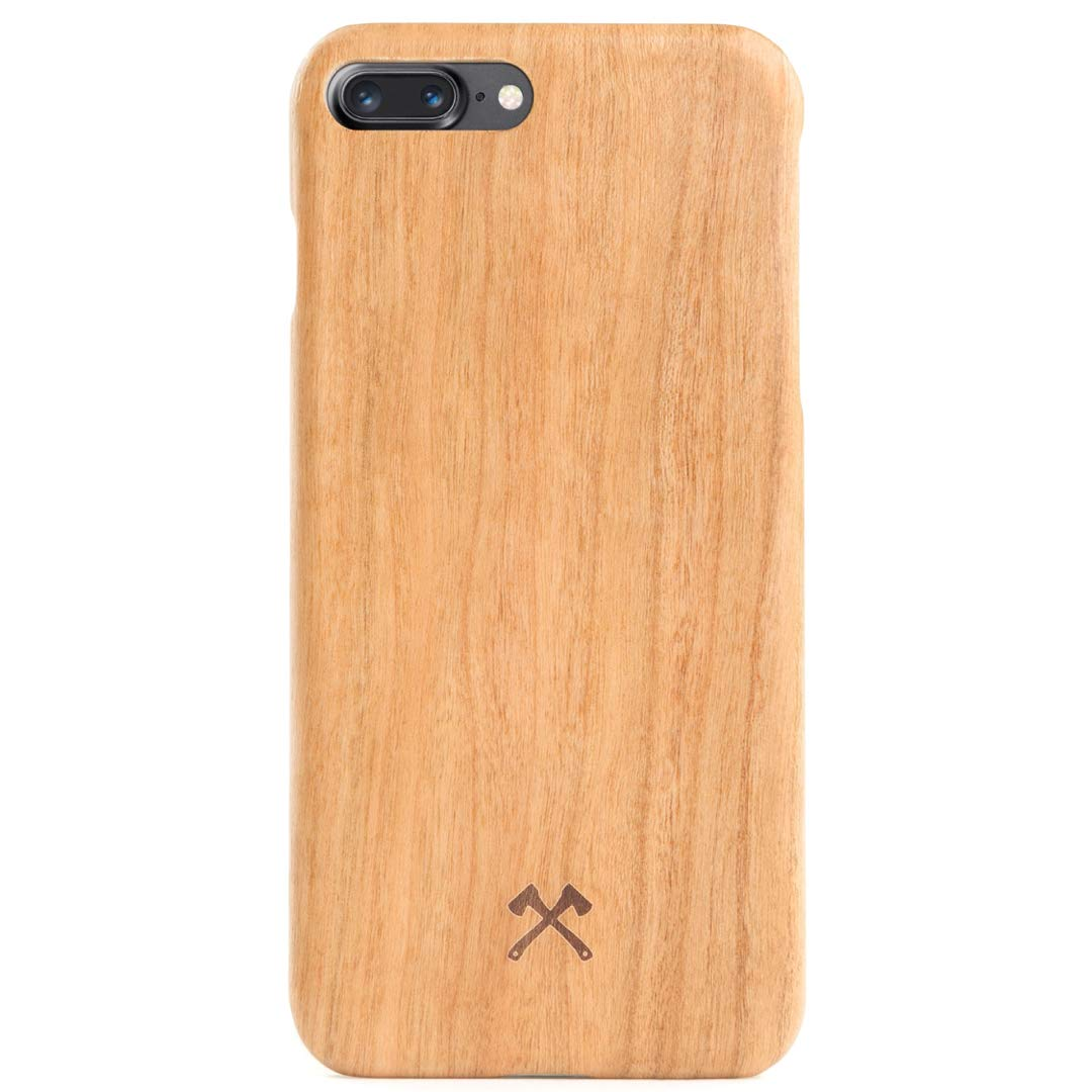 Woodcessories - EcoCase Slim Series - iPhone 7 Plus / 8 Plus Case, Cover, Protection Made of Real, Sustainable Wood Premium Design (Cherry)