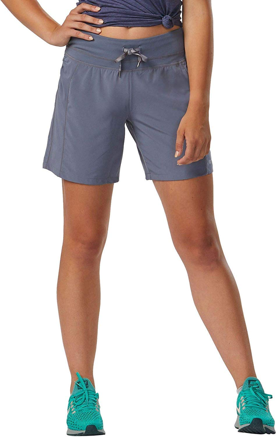 R-Gear Women's 7-inch Running Workout Shorts with Zipper Back Pocket for Gym, Sports, Leisure | Inspiration