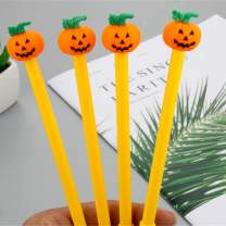 WIN-MARKET Vegetables Funny Pumpkin Gel Ink Pen Cute Kawaii Black Writing Pens Ballpoint Black Ink Gel Pen Party Gift Gel Ink Pens Funny School Stationery Office Supplies(6PCS)