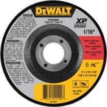 "DEWALT DWA8958L XP Ceramic Type 27 Metal/Stainless Cutting Wheel, 5"" x 1/16"" x 7/8"""