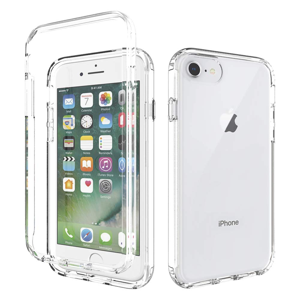 UrSpeedtekLive Clear Series iPhone 6/6s/7/8 Case, iPhone SE 2020 Case, Dual Layer Rugged Back Case with Front Reinforced Frame, Heavy Duty Shock Absorption TPU Bumper Case for iPhone 6/6s/7/8-Clear