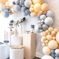 Felice Arts Wedding Party Decoration 117Pcs Blush Gray White Gold Pastel Balloon Garland Arch Kit for Birthday Baby Shower Bridal Shower Party Theme Party Events