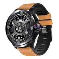 Allcall GT 4G Smart Watch Phone Big Battery Face Unlock Life Waterproof GPS Dual Cameras 1.6''Round Display Long Battery Big Memory 3GB RAM 32GB ROM 24h Heart Rate Monitor(Ceramic Bezel, Brown Strap)