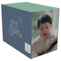 Earth + Eden Baby Diapers, Size 1, 176 Count, White