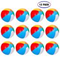 "Inflatable Beach Balls[12PACK] 10"" Rainbow Beach Balls Pool Party Balls Bulk Beach Balls Rainbow Colored Beach Toys Perfect for Beach Sand Pool Party Favors Swimming Water Toys for Kids."