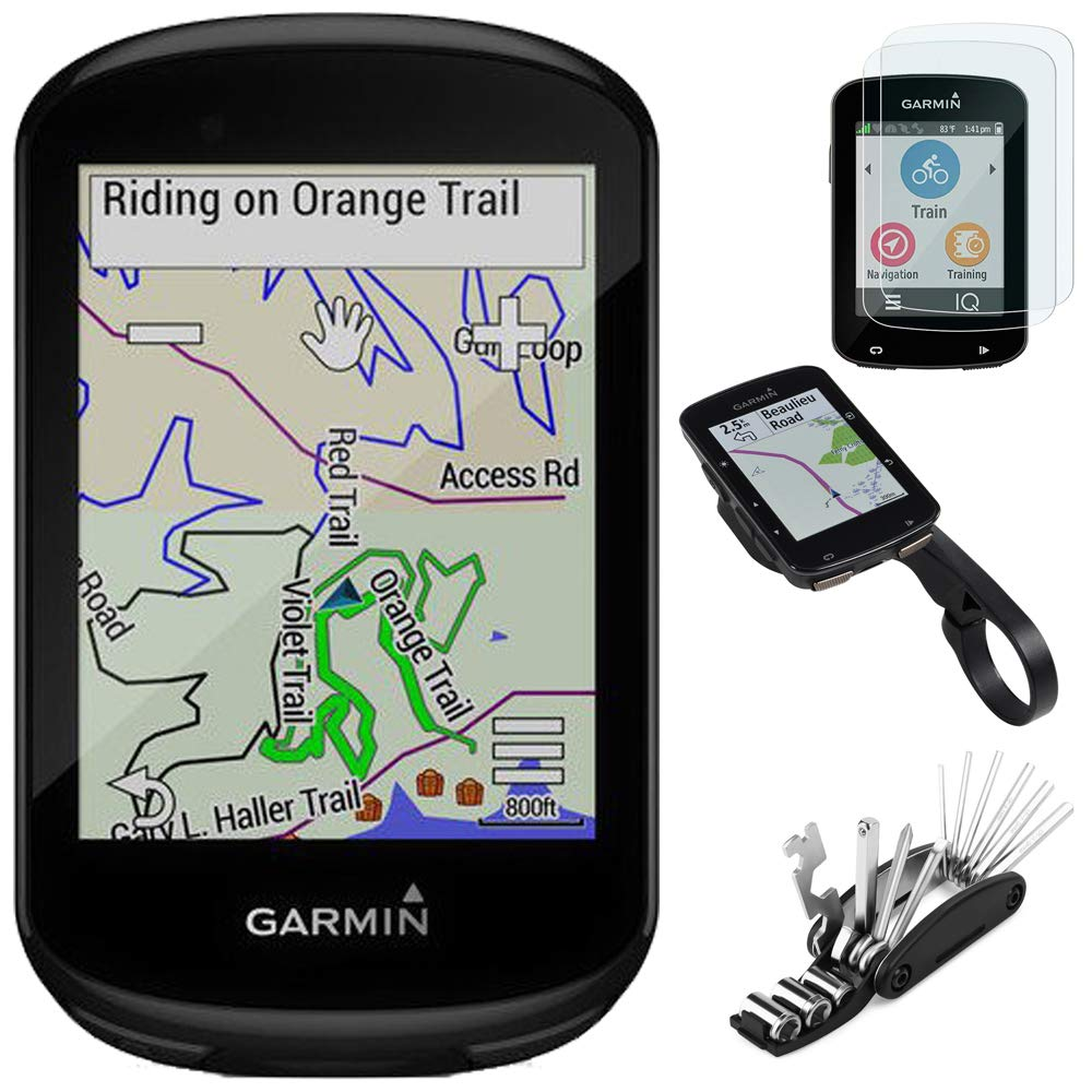 Garmin 010-02061-00 Edge 830 GPS Cycling Computer Bundle with Screen Protector, Scratch Resistant Tempered Glass, Bike Mount Edge GPS Series and 16-in-1 Multi-Function Bike Tool Kit