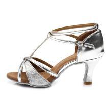 HROYL Women's Latin Dance Shoes Satin Ballroom Model US-255