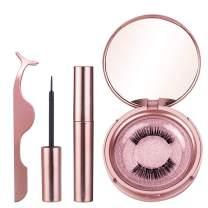 MelodySusie Magnetic Eyelashes with Eyeliner - Magnetic Eyeliner and Magnetic Eyelash Kit, Natural Look Eyelashes with Applicator