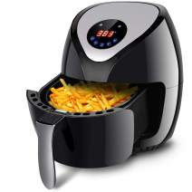 Costzon Air Fryer, UL Certified, 3.2 Quart 1400W Preset Healthy Oil Free Electric Cooking, Rapid Air Technology , Detachable Non-Stick Basket, Touch Screen with Timer Temperature Control, Dishwasher Safe