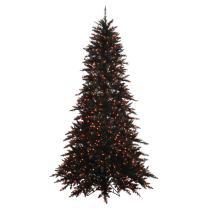 Vickerman Black Fir with Orange Lights Christmas Tree, K162031