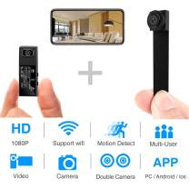 Hidden Spy Camera,1080P WiFi Mini Camera Portable Wireless Security Cameras Video Recorder IP Cameras Nanny Cam with DIY Interchangeable Lens/Motion Detection for Home Monitoring(New APP)