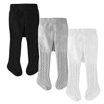 Solid Baby Toddler Girls Cotton Tights Cable Knit Infant Leggings Stocking Pants Pantyhose 3/6 Packs