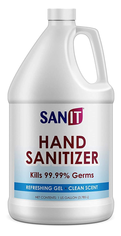 Hand Sanitizer Gel: One Gallon Alcohol Based Bulk (128 oz) 70% Isopropyl .Alcohol Refill Jug by Regalia (128 oz)