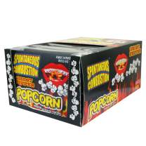 Spontaneous Combustion Ghost Pepper Microwave Popcorn Bags - 12 Pack - Ultimate Spicy Gourmet Popcorn - Perfect Hot Movie Theater Popcorn for Home - Try if you dare!