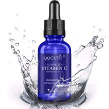 QQcute 30% Vitamin C Serum with Hyaluronic Acid for Face, Natural and Organic Skin Care for Anti Aging, Anti-Wrinkle, Intense Moisture, Topical Eye & Facial Treatment Serum (1 Fluid Ounce)