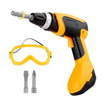 Toy Tool Drill, Kids Power Construction Tool Drill with Goggle, Toddlers Toy Shop Tools for Boys