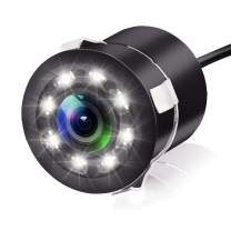 JPP Car Rear View Camera - Backup Camera, Suitable for Car 170° Viewing Angle Night Vision Waterproof, with 8 LED Lights