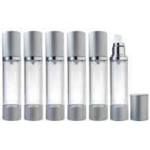 Airless Pump Bottle Silver Matte - 1.7 oz (6 Pack)