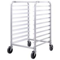 Giantex 10 Tier Aluminum Bakery Rack Home Commercial Kitchen Bun Pan Sheet Rack Mobile Sheet Pan Racking Trolley Storage Cooling Rack w/Lockable Casters