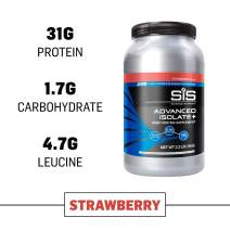 Science in Sport Advanced Isolate Protein, 31g Whey Protein Isolate with BCAAs, Strawberry Protein Powder with Leucine Isoleucine and Valine - 2.2lb