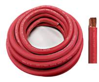WNI 6 Gauge 20 Feet Red 6 AWG Ultra Flexible Welding Battery Copper Cable Wire - Made In The USA - Car, Inverter, RV, Solar