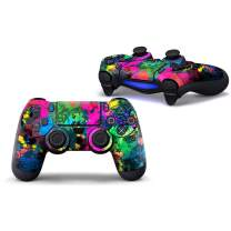Sololife Colorful Paint PS4 Controller Skin Stickers for Sony Playstation 4 DualShock Wireless Controller
