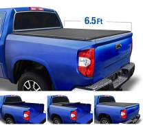 Tyger Auto T1 Soft Roll Up Truck Bed Tonneau Cover for 2007-2013 Toyota Tundra  Fleetside 6.5' Bed  TG-BC1T9039, Black
