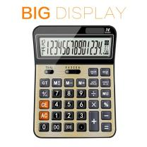 Calculators for Office/Business/Family Desktop Calculator with 14-Digit Large Display, Solar and AAA Battery Dual Power