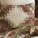 Donna Sharp Pillow Sham - Watercolor Irish Chain Contemporary Decorative Pillow Cover with Floral Pattern - Standard
